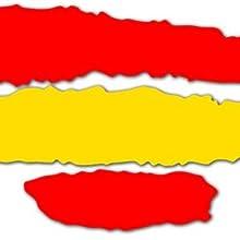REGALOS ESTRELLA AZUL Pegatinas Banderas de España, Pack de 10 ...