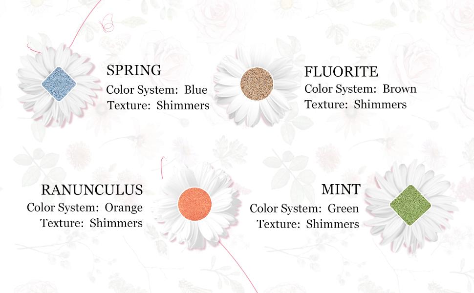 Eyeshadow Palette Shimmer Ultra Pigmented Makeup Eye Shadow Powder Long Lasting Waterproof