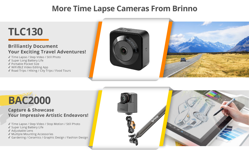 More Time Lapse Cameras From Brinno TLC130 & BAC2000