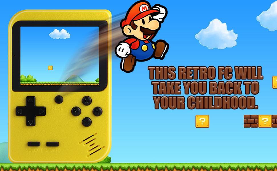 Diswoe Consola de Juegos Portátil, 400 Juegos Retro 2.8 Pulgadas Pantalla a Color Soporte para Jugadores Duales y Conexión de TV, Presente para niños ...