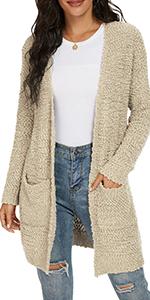 Women's Casual Chunky Knit Sweater Coat