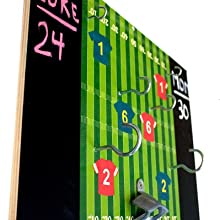 Side view of game to show hook positions and board design
