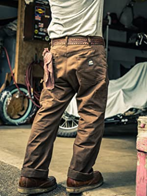 Berne Acre Washed Duck Carpenter Pant lifestyle work wear image