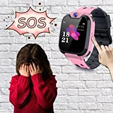 Kids Smart Watch Phone for Girls and Boys Age 4-16 (4 Colors), Make Call Without Cellphone