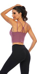 strappy sport bra