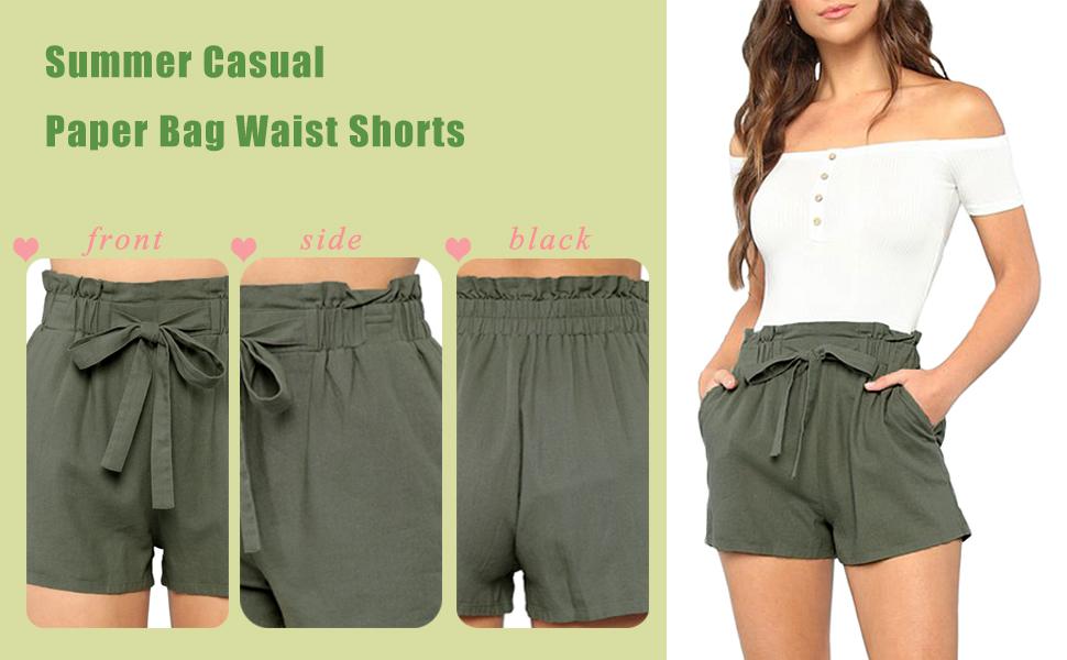 summer shorts casual hight waist