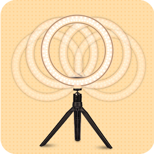 You can easily adjust the ring light to the angle you need with the 360° rotation