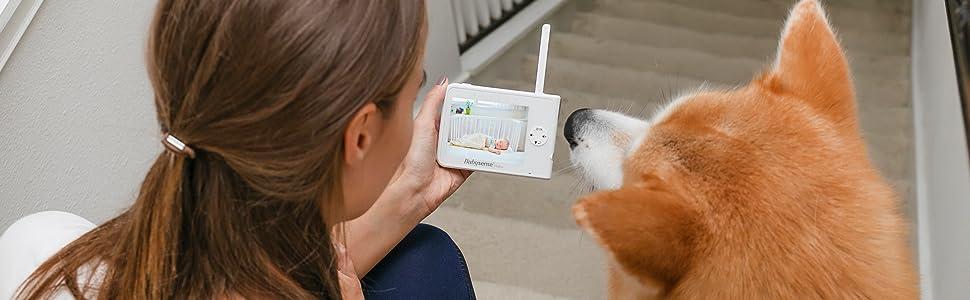 "Babysense Video Monitor V35 white - vivid 3.5"" HD LCD color video screen"