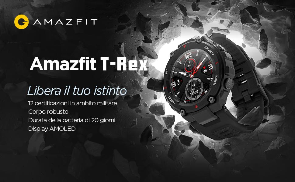 Amazfit T-REX Smartwatch braccialetto sportivo Orologio Intelligente  sportivo Sonno Monitor