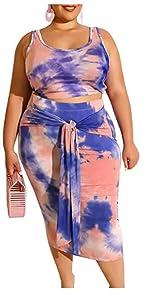 plus size skirt set