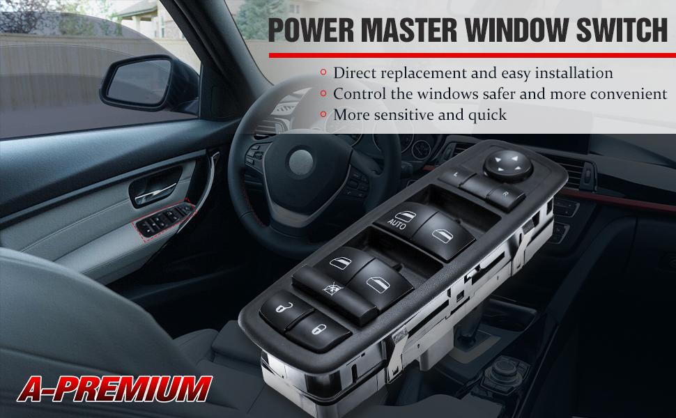 Master power window switch