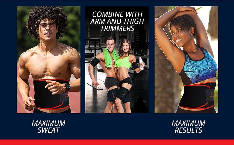 waist trimmer for men sweat belt for men stomach wrap waist sweat bands for women waist slimmer