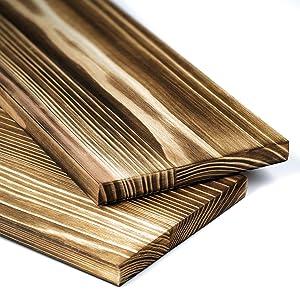 Sleek Smooth Wood Shelves