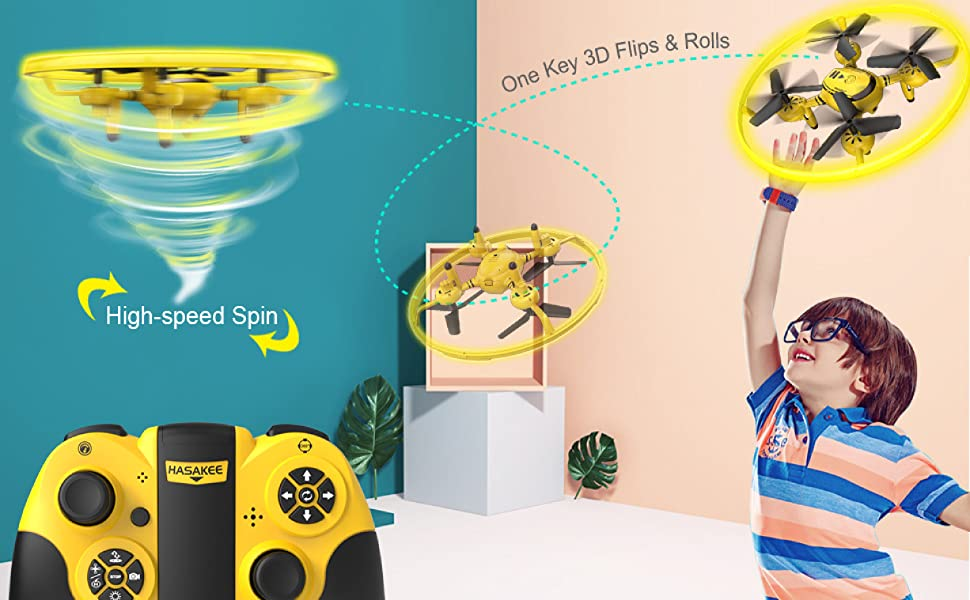 Flashandfocus.com 18050ce5-a584-4a7e-821d-1f081400a23c.__CR0,0,3368,2083_PT0_SX970_V1___ HASAKEE Q8 FPV Drone with Camera for Kids Adults,RC Drones for Kids,Quadcopter with Yellow Light,Altitude Hold,Gravity…