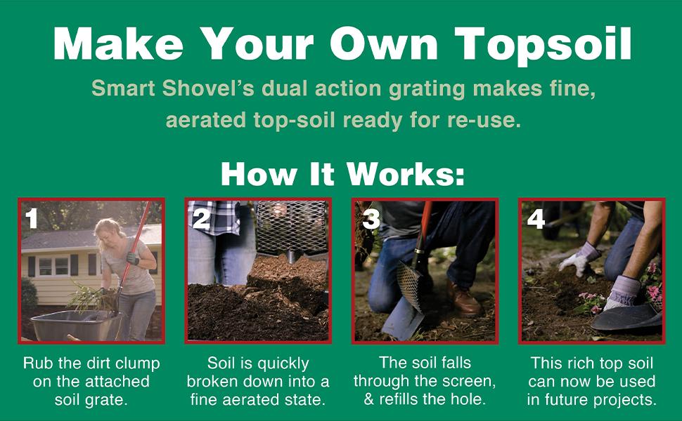 top soil grate dirt