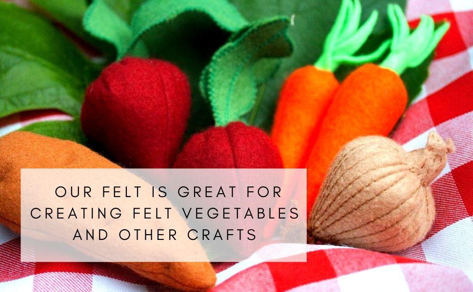 felt fabric vegetables