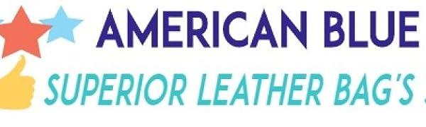 AMERICAN BLUE LEATHER MESSENGER BAG