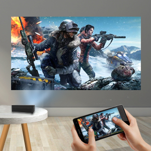 projector for indoor movies and video games mini projector bluetooth wifi wireless