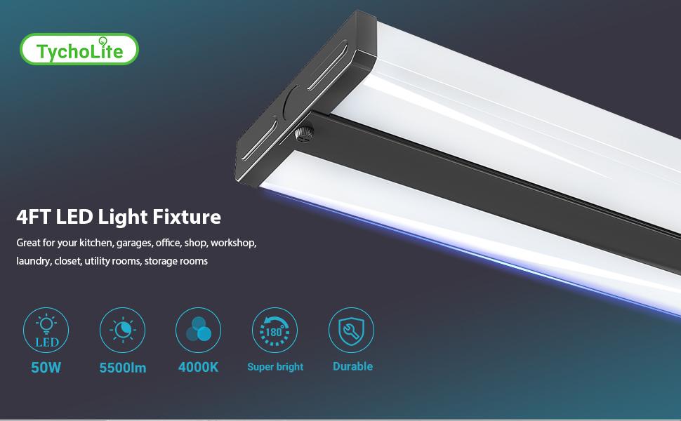 4ft led light fixture 4 foot led kitchen lighting dimmable 48 inch led lights ceiling flush mount
