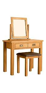 Lanner Oak Dressing Table Set
