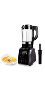 Amaste 1200W Cold and Hot Professional Countertop Blender (MR-01 GRAY)