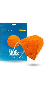 M95c Kids Face Mask Tangerine Orange