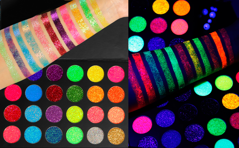 NUDE-COLORFUL-PIGMENTED-NEON-GLITTER-MAKEUP