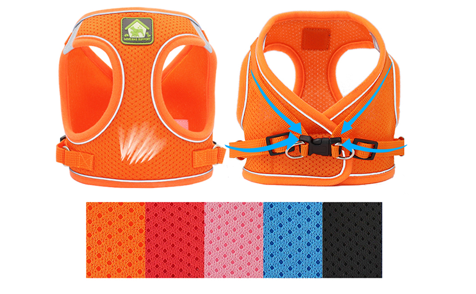 Super Comfort Fully Adjustable Double Padded Step in Dog Harness