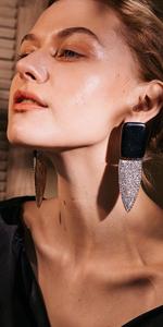 Black Crystal Smoking Drop Earrings Fashion Jewelry …