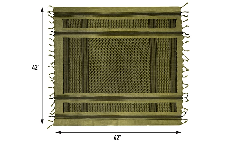 Shemagh Scarf Dimensions