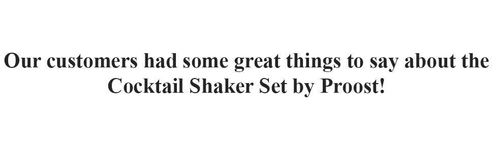 Our customers had some great things to say about the Cocktail Shaker Set by Proost!