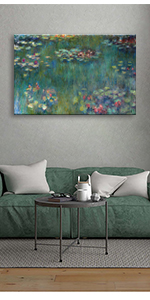 Canvas Wall Art Water Lilies by Claude Monet Canvas Paintings