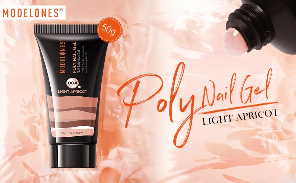 Modelones 50g Light Apricot Poly Nail Gel