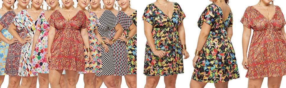 plus size mini dress