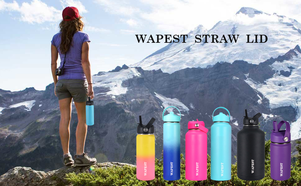 Wapest straw lid fits wide mouth hydro flask straw lid perfectly