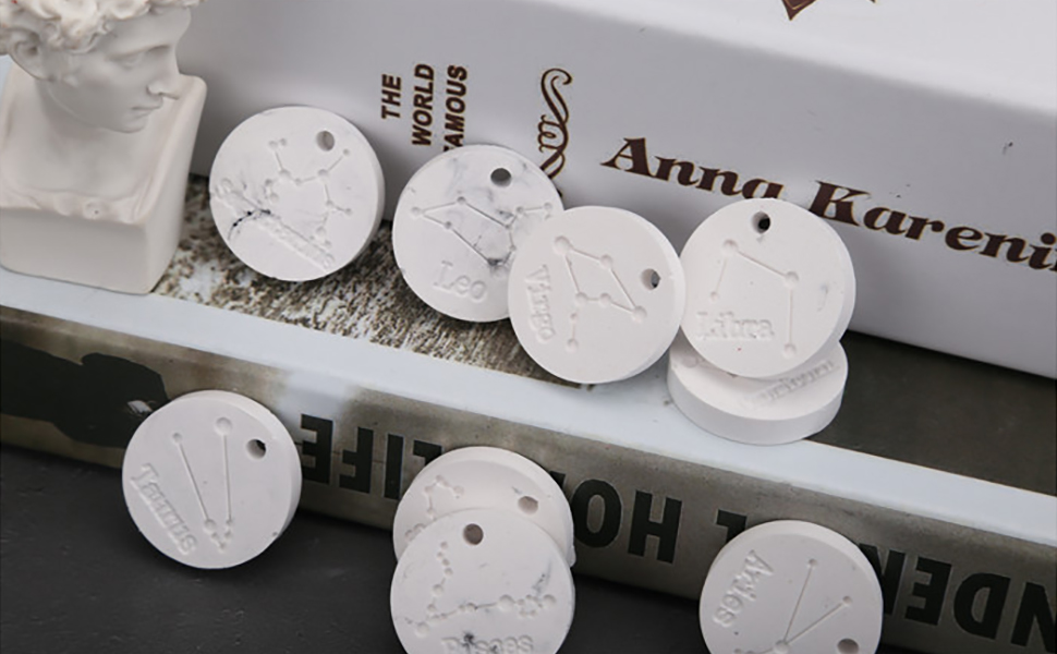 HEALLILY 12 Constellations Resin Silicone Mould Chocolate Fondant Cookie Baking Mold Silicone Ice Tray Handmade DIY Jewelry Making