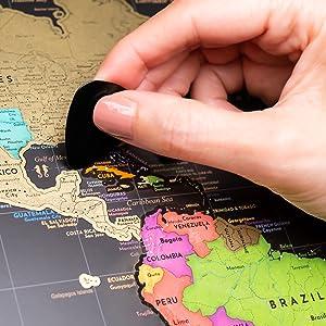 mapa Europy USA drogowa mapa Europy mapa Europy Północna Europa USA zdrapka plakat ściana mapa świata korek