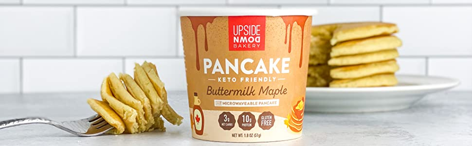 high protein pancake mix microwaveable keto breakfast snack muffin low sugar gluten free pancake