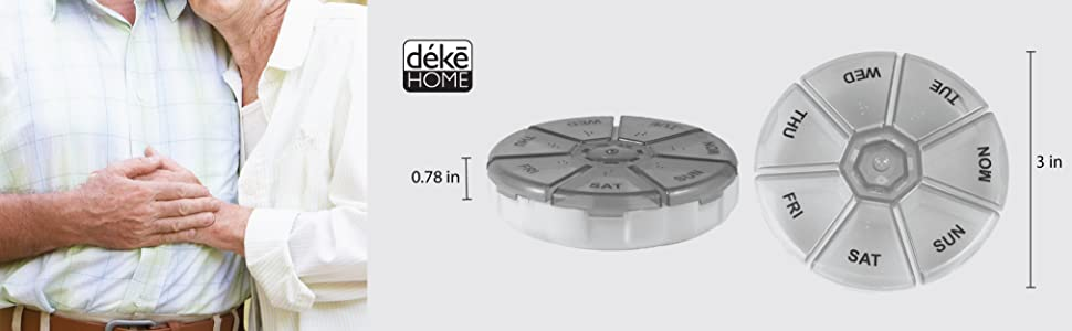 Aluminum Keychain Medication Pill Box Waterproof Portable Mini Travel Boxes Medicine Vitamin Holder