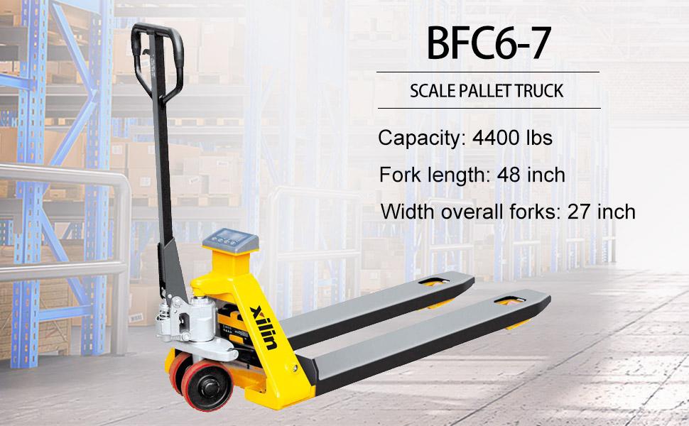 Xilin scale pallet truck hand pallet jack manual pallet truck lift height