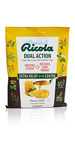 dual action cough drops