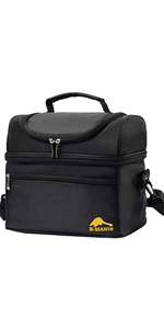 Large capacity double lunch bag