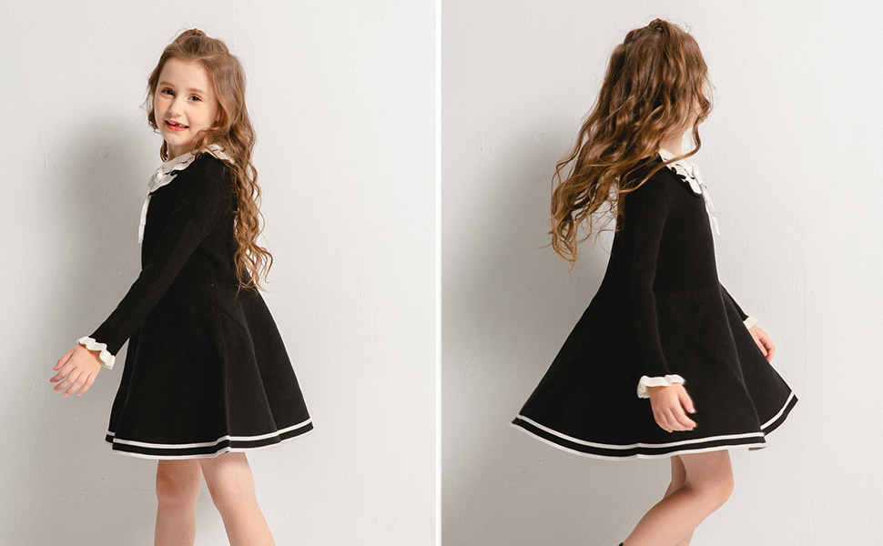 girl winter long sleeve dress