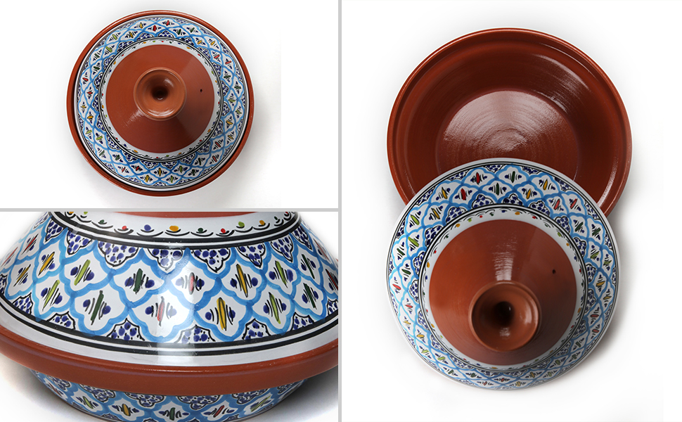large clay pots appetizer plates moroccan bowl