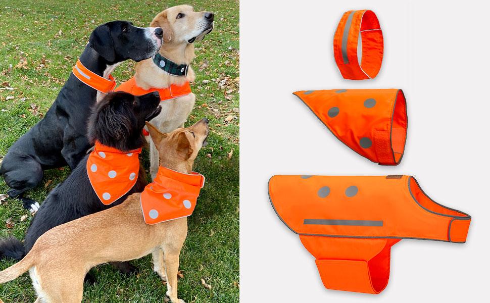 Orange Spots Yellow Dog Bandana Great Handmade Gift Free Shipping Within Australia Handmade Dog Over the Collar Bandana