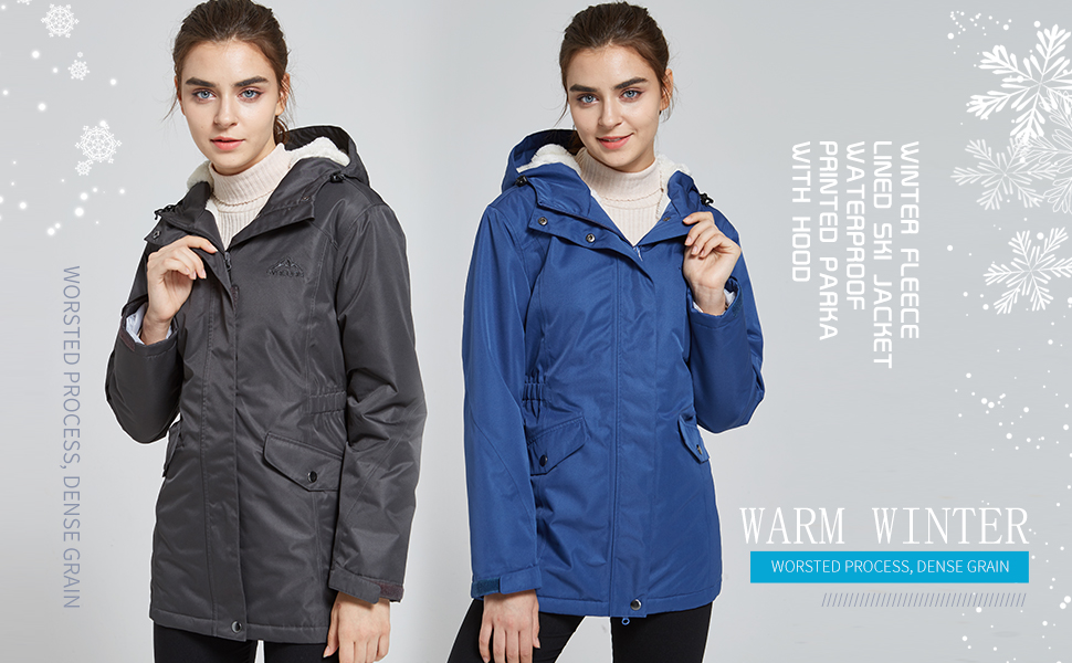 Waterproof Windproof Snow Ski Hooded Jacket
