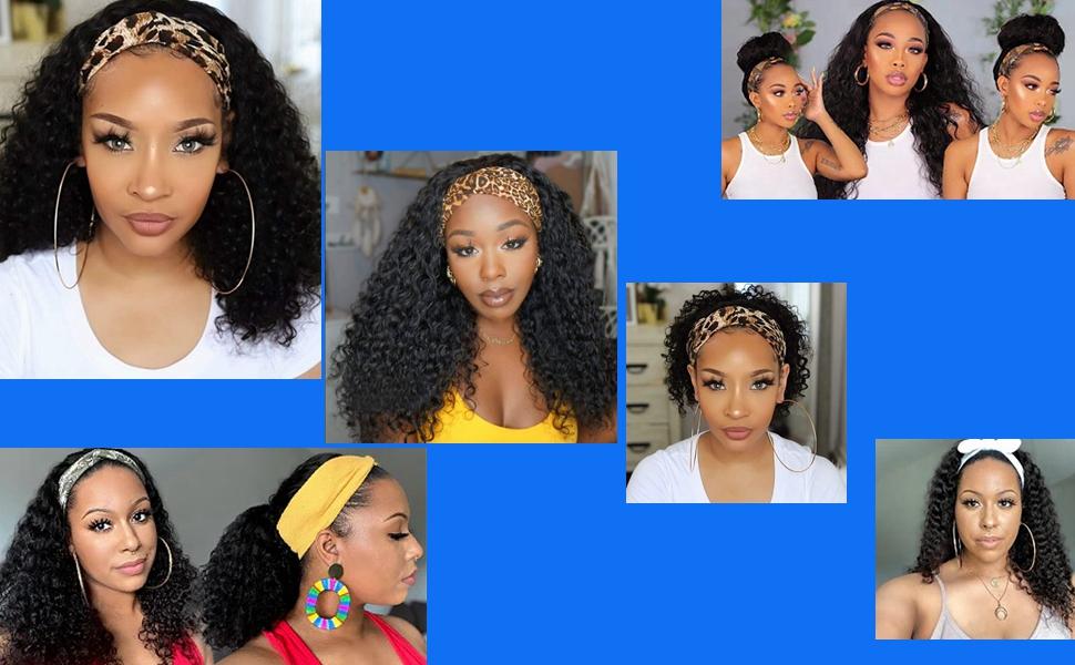 Headband wigs for black women