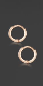Rose Gold Plated  hoops 18mm