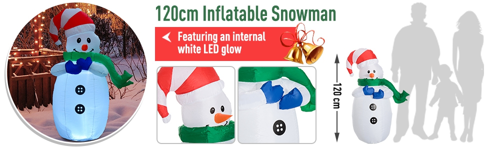 Inflatable Snow man
