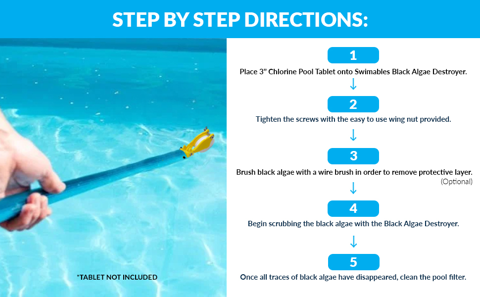 destructor destruye direcciones algas-gon soporte hecho piscina nadar natación evita prevenir paso